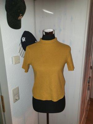 Toller senffarbender kurzarm Pullover
