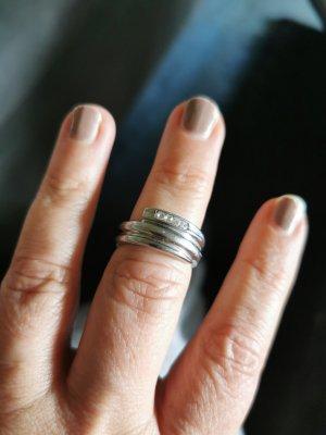 Edc Esprit Silver Ring silver-colored
