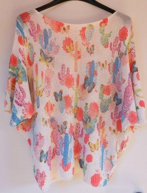 Sweter oversize Wielokolorowy Tkanina z mieszanych włókien