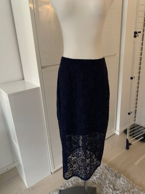 BCBGeneration Lace Skirt blue