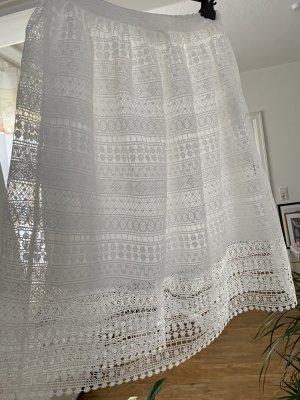 Naf naf Koronkowa spódnica biały