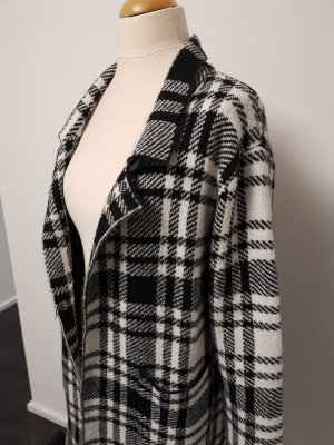 Abrigo de punto blanco-negro