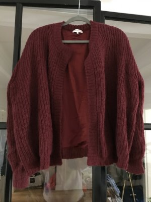 Delicate Love Knitted Cardigan bordeaux-blackberry-red