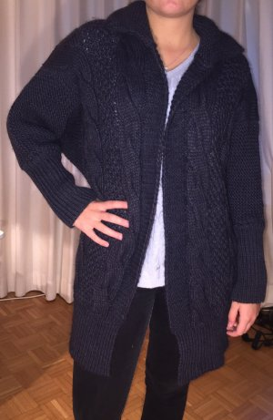 V Milano Gebreide jas donkerblauw