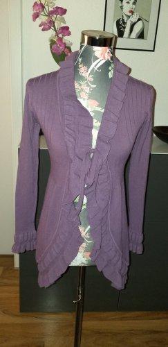 Knitted Coat dark violet