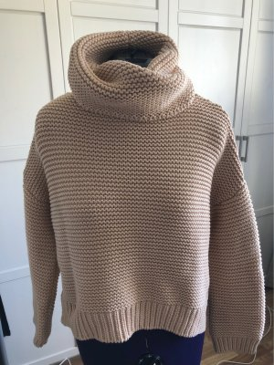 Zara Knit Pull à gosses mailles beige