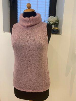 Sisley Sweter bez rękawów z cienkiej dzianiny jasny różowy