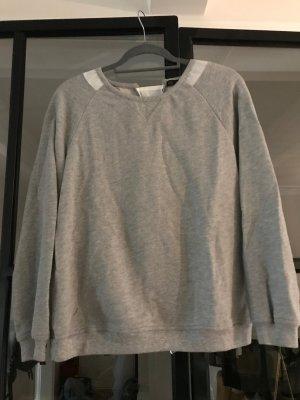 Zara Basic Sweatshirt gris-blanc