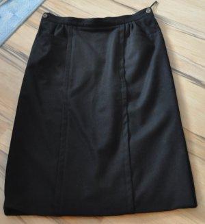 Wool Skirt black mohair