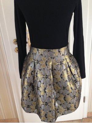 Ark & Co Spódnica w kształcie tulipana brąz-złoto