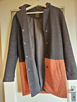 B.young Between-Seasons-Coat black-dark orange