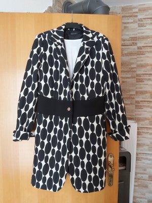 BC Collection Gabardina tipo vestido negro-crema
