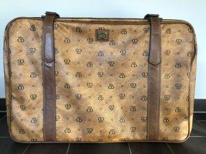 Toller Vintage Reise CD Koffer Vintage Leder Rollen Luxus Top Zustand