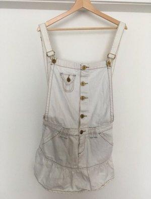 Fishbone Pinafore Overall Skirt white