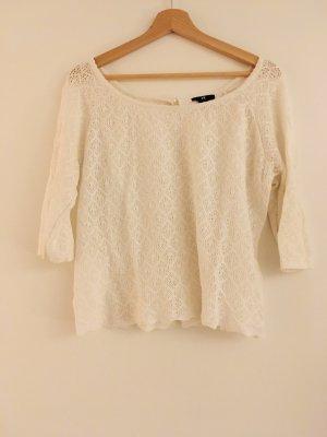 H&M Gehaakte trui wit
