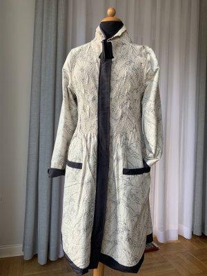 KRISS Dwustronna kurtka w kolorze białej wełny-ciemnoniebieski