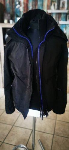 Toller Windbreaker Jacke Super Dry schwarz lila M neu