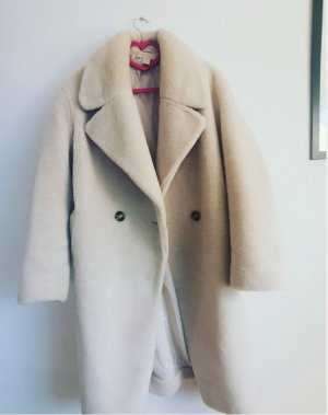 H&M Fake Fur Coat natural white mixture fibre