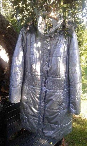 Laura Kent Długa kurtka srebrny