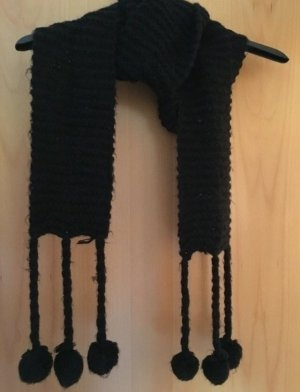H&M Knitted Scarf black