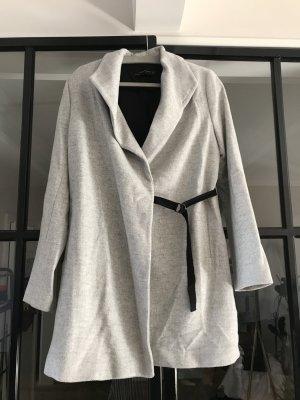 Zara Woman Wollen jas lichtgrijs