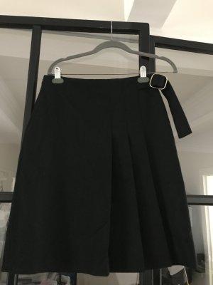 Massimo Dutti Wool Skirt black