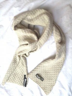Bench Woolen Scarf cream-oatmeal