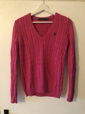 Ralph Lauren Sport V-halstrui roze-magenta