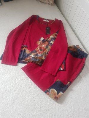 Tailleur-pantalon rouge brique