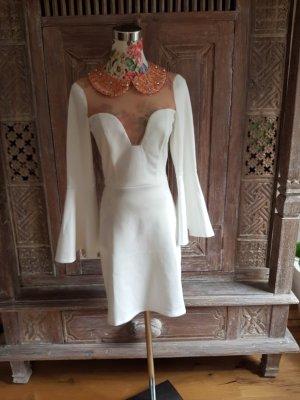 Asos Robe trapèze blanc-doré