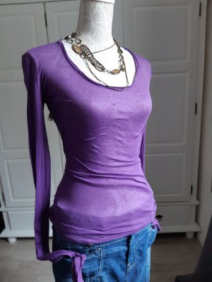American Vintage Top à manches longues violet coton