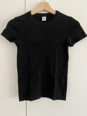 Tolles basic schwarzes T-Shirt - Petit Bateau