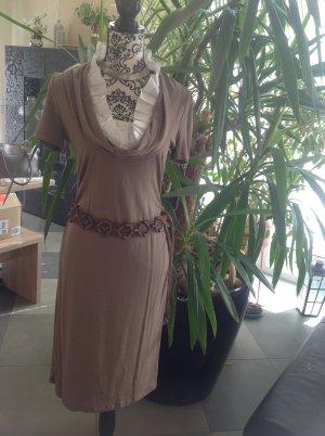 Class International Sukienka koszulowa szaro-brązowy-biały Wiskoza