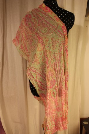 Codello Shoulder Scarf neon green-neon pink polyester