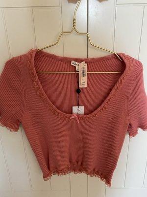 Victoria's Secret Camicia cropped rosso chiaro-salmone