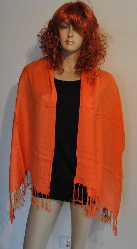 Chusta na ramiona pomarańczowy neonowy Tkanina z mieszanych włókien