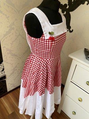 Tolles Dawanda 50er 60er Jahre Retro Kleid Rockabilly Petticoat Kleid Gr M