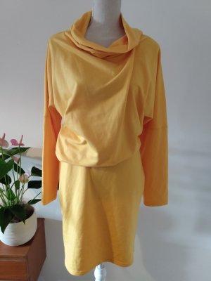 Clocolor Vestido de tela de sudadera amarillo