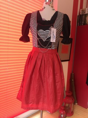 Vestido corsage multicolor Algodón