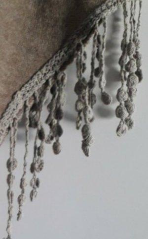 Chusta na ramiona szaro-brązowy-jasnobrązowy Wełna
