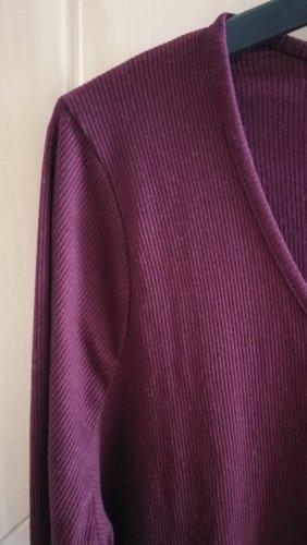 Asos Camisa acanalada violeta oscuro