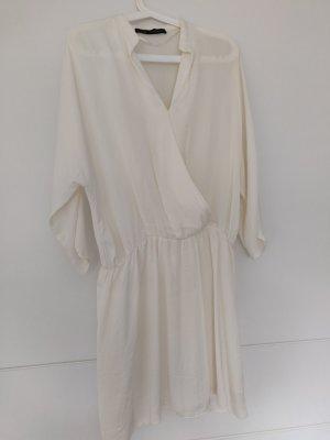 Tolles fließendes kleid von Zara in Ivory/ beige S/36