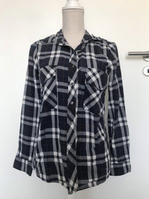 Zara Denim Shirt white-dark blue
