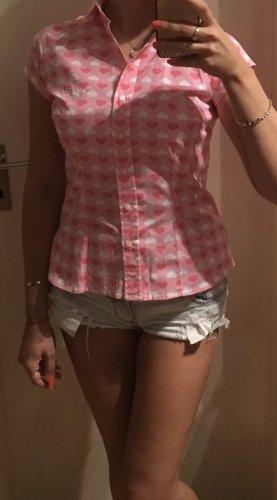 100 Shirt met korte mouwen wit-roze