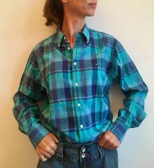 Tommy Hilfiger Chemise à manches longues noir-bleu clair