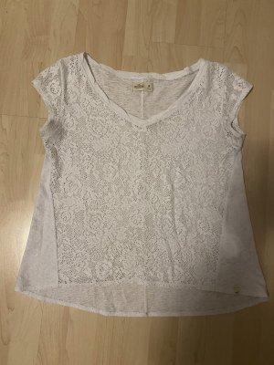 Hollister Top en maille crochet blanc-blanc cassé