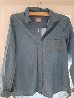 Mustang Bluzka jeansowa chabrowy