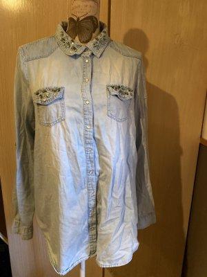 Amisu Blouse en jean bleu clair