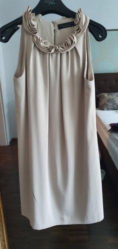 Twin set Sukienka o kroju litery A beżowy