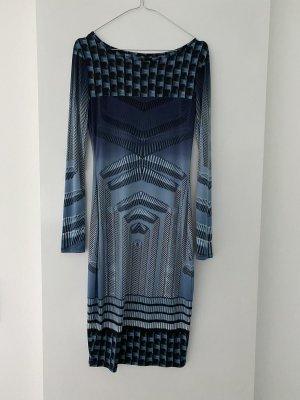 Robe stretch bleu foncé-bleu